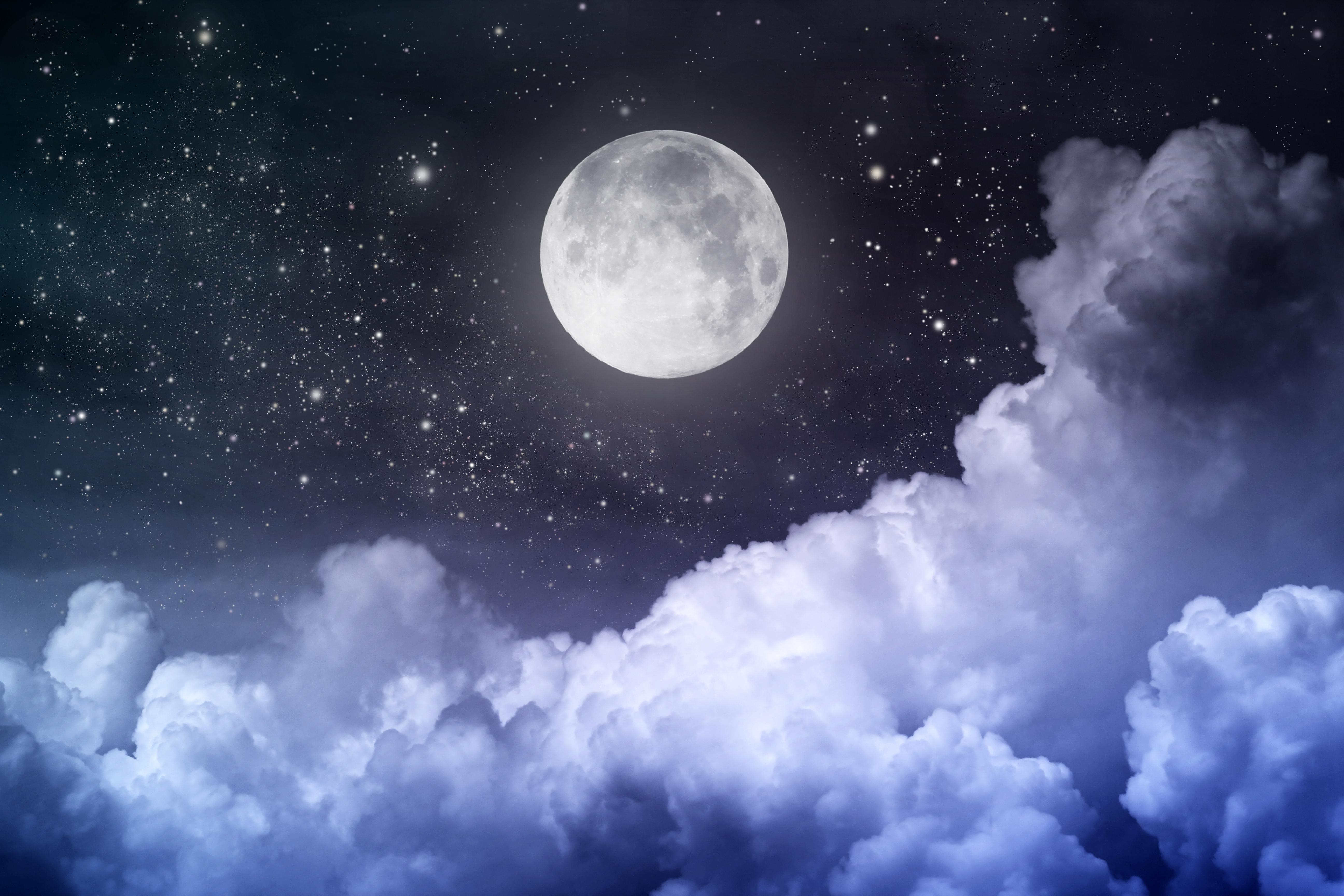 moon and stars - HD5184×3456