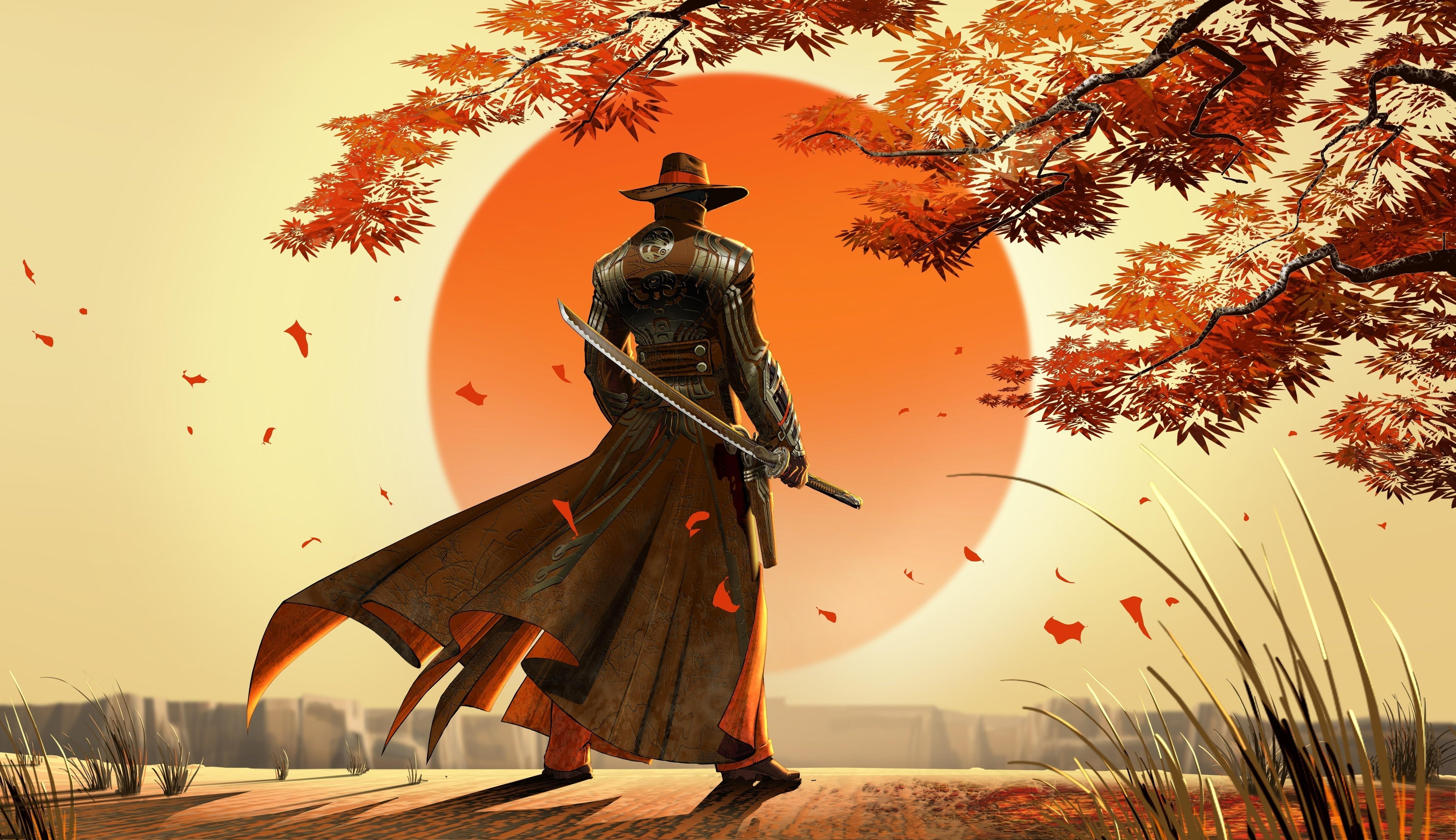 Картинки для рабочего стола монах самурай