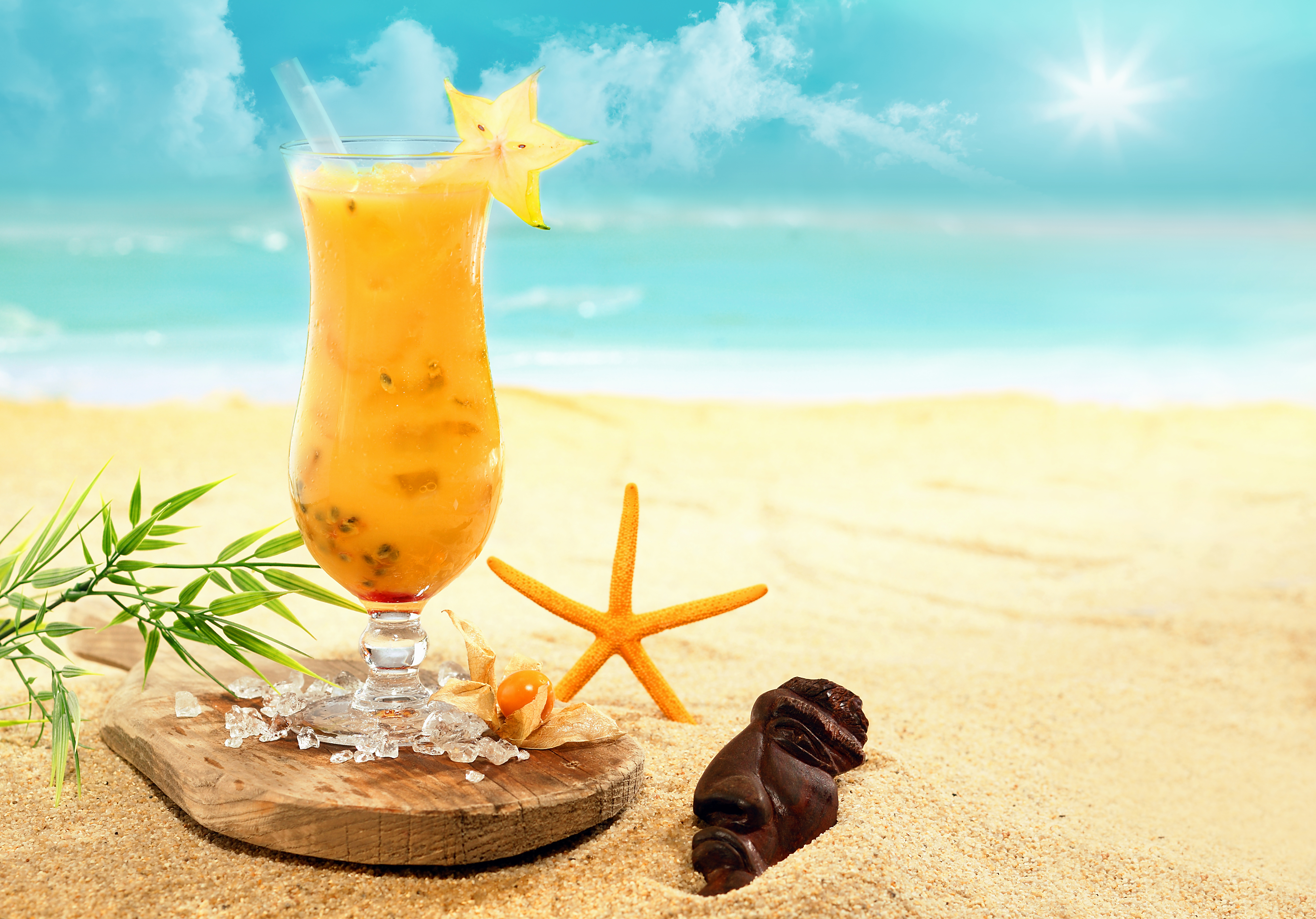 утро пляж лето картинки летний