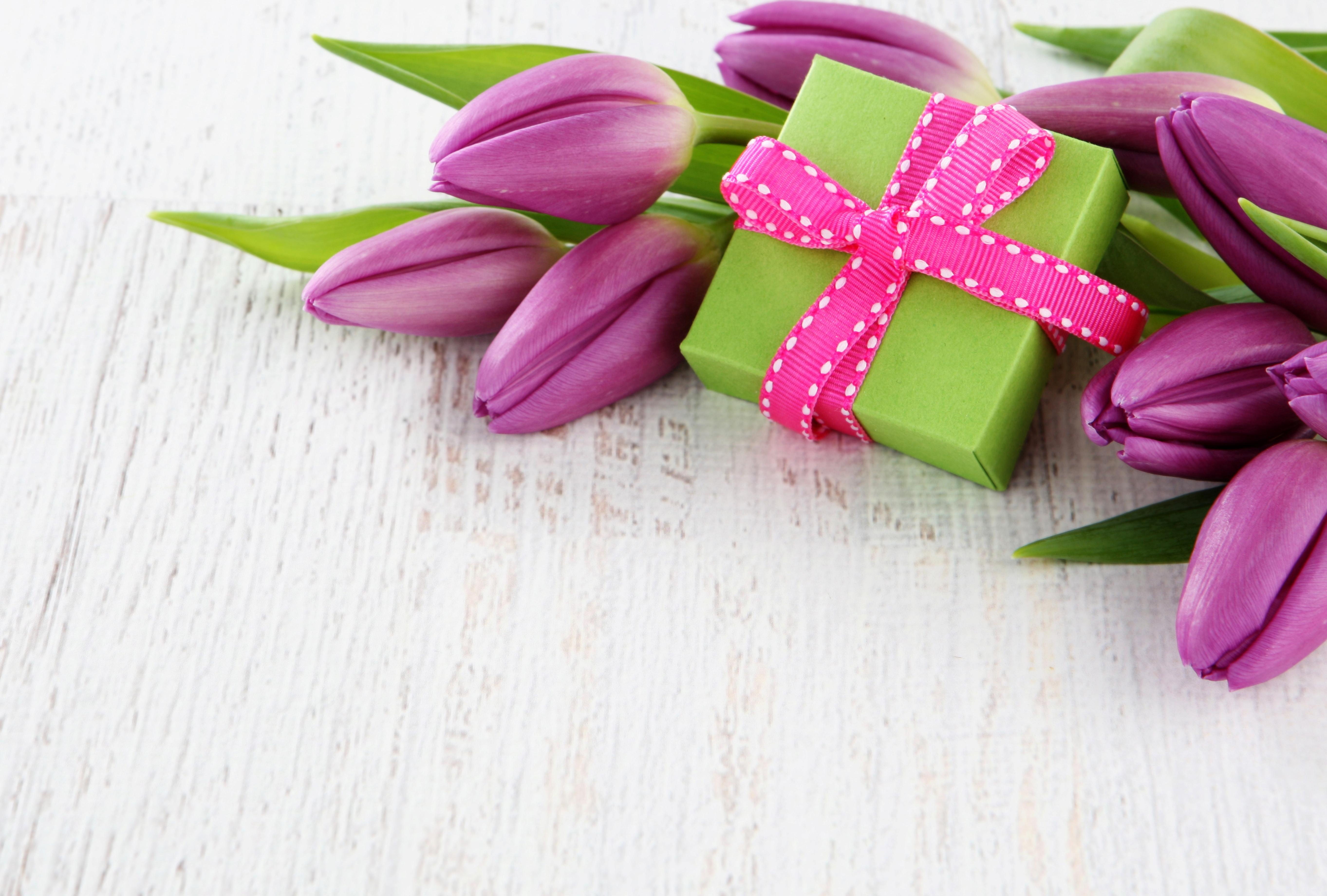 Открытка цветов в подарок, прекрасной леди