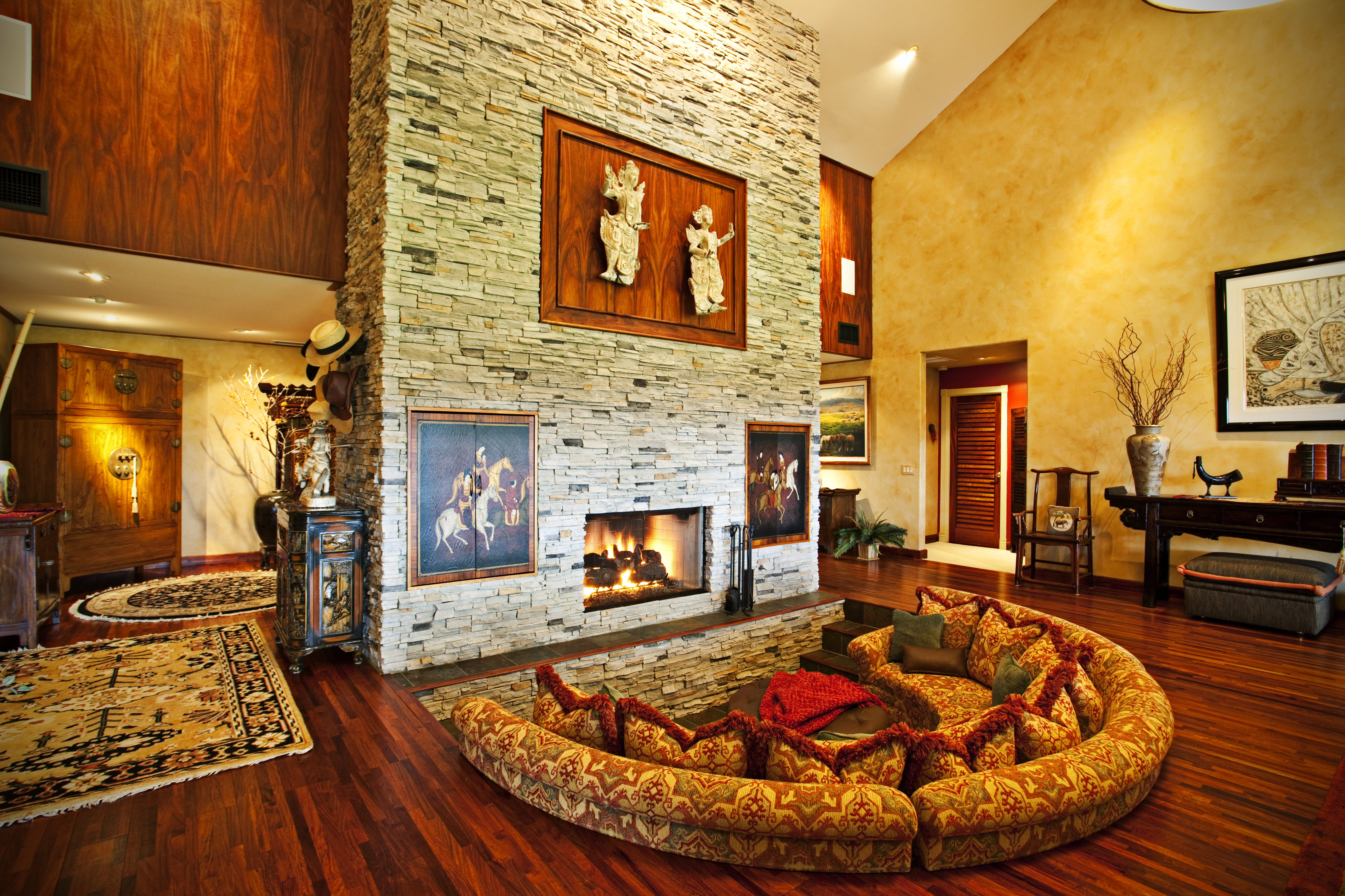 жилья обои для гостиной с камнем фото сказку нашу