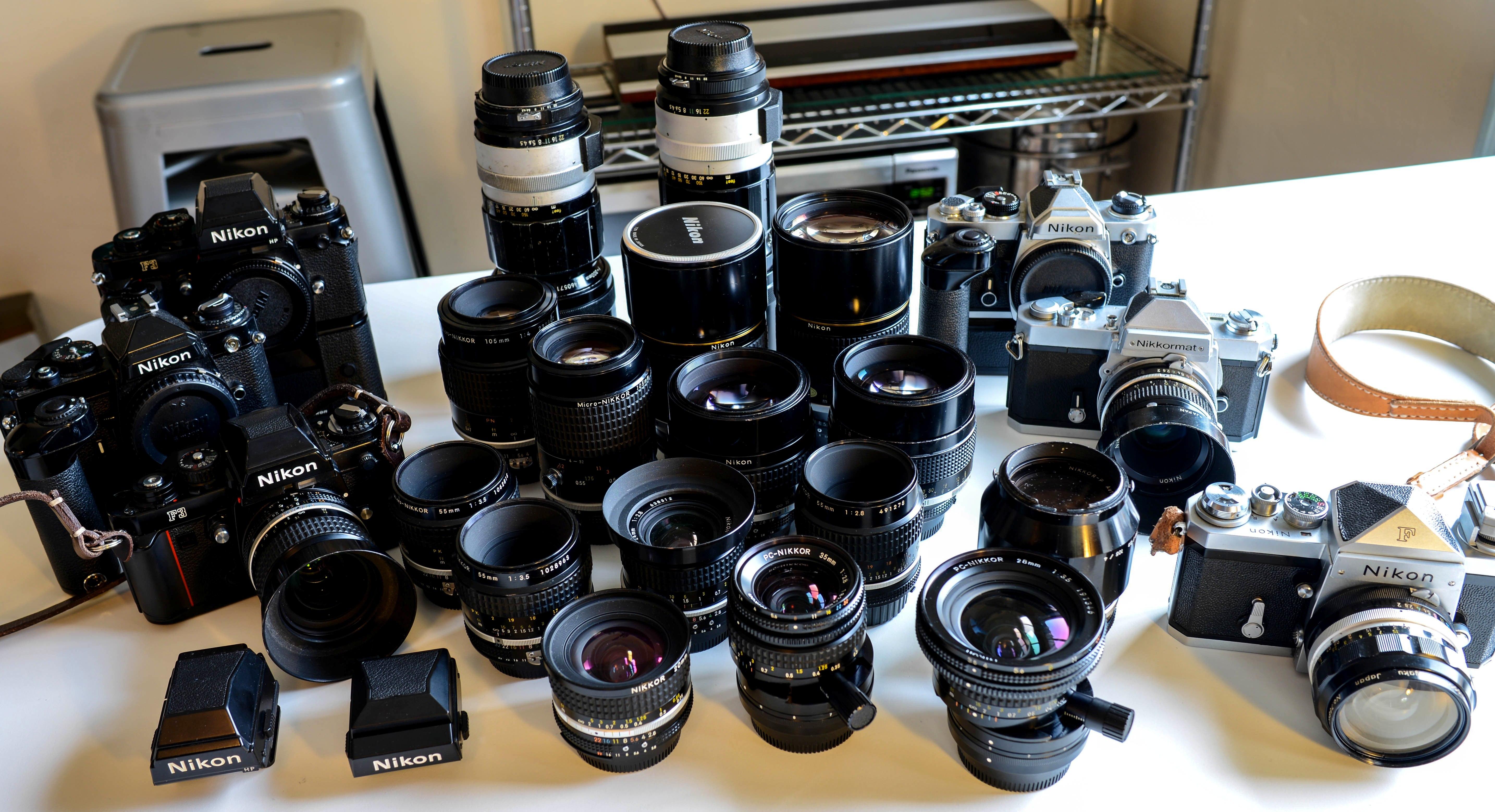 комплект объективов свадебного фотографа