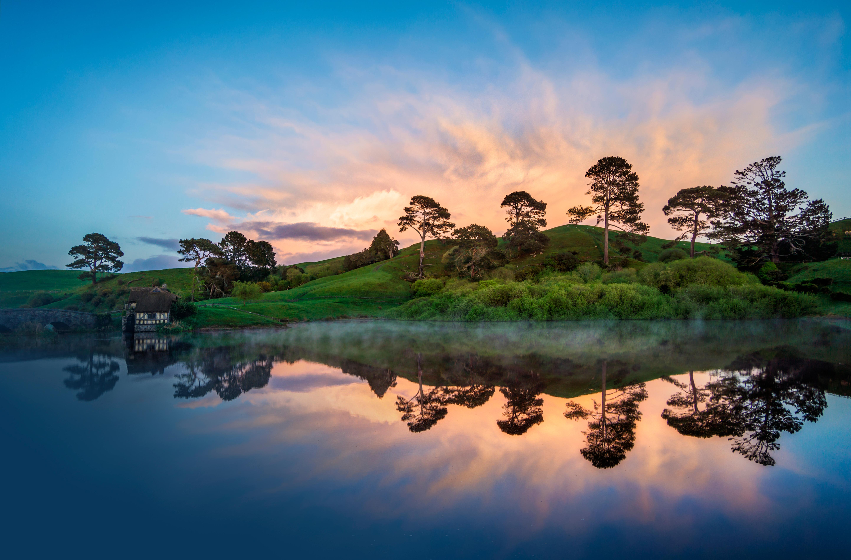 Озеро холмы  № 582586 бесплатно