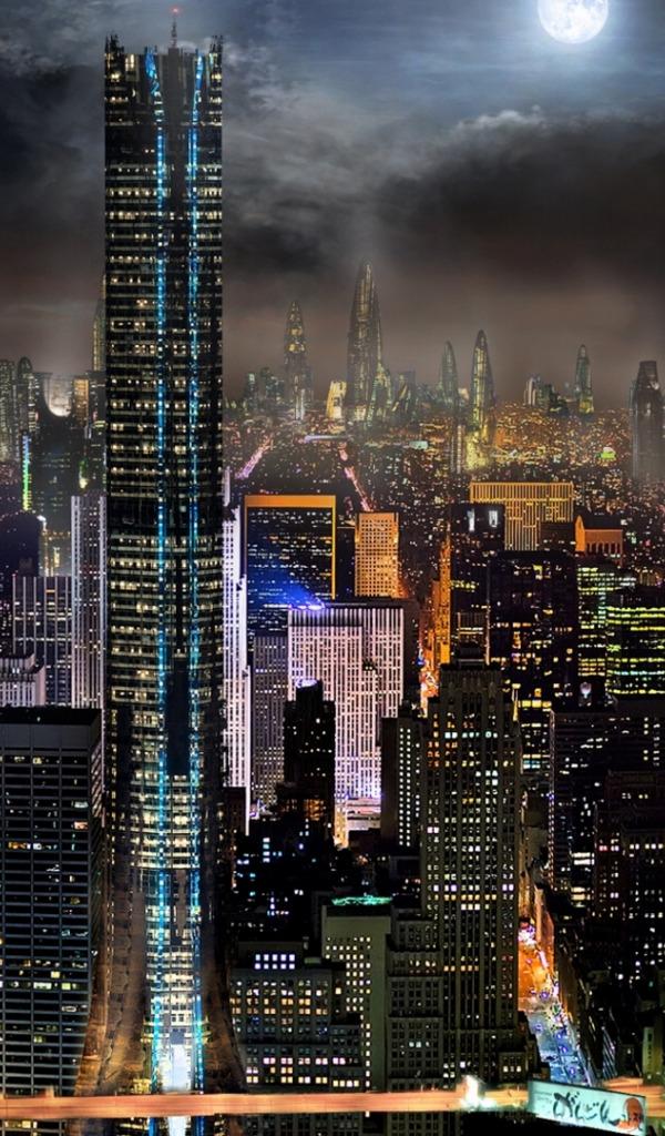 ночной город картинки красивые вертикальные какое-то время