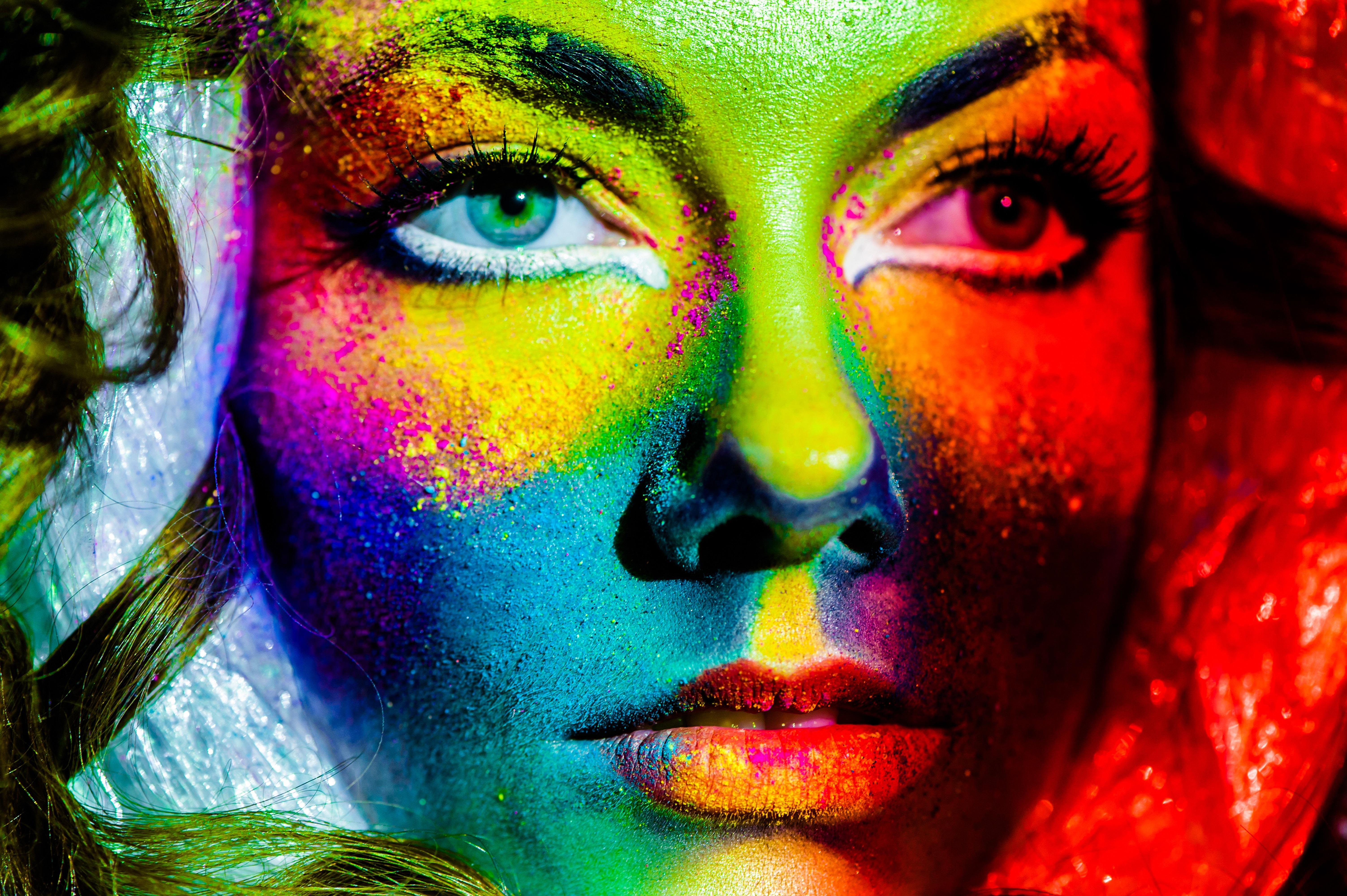 это самые красивые картинки краски людей набирают