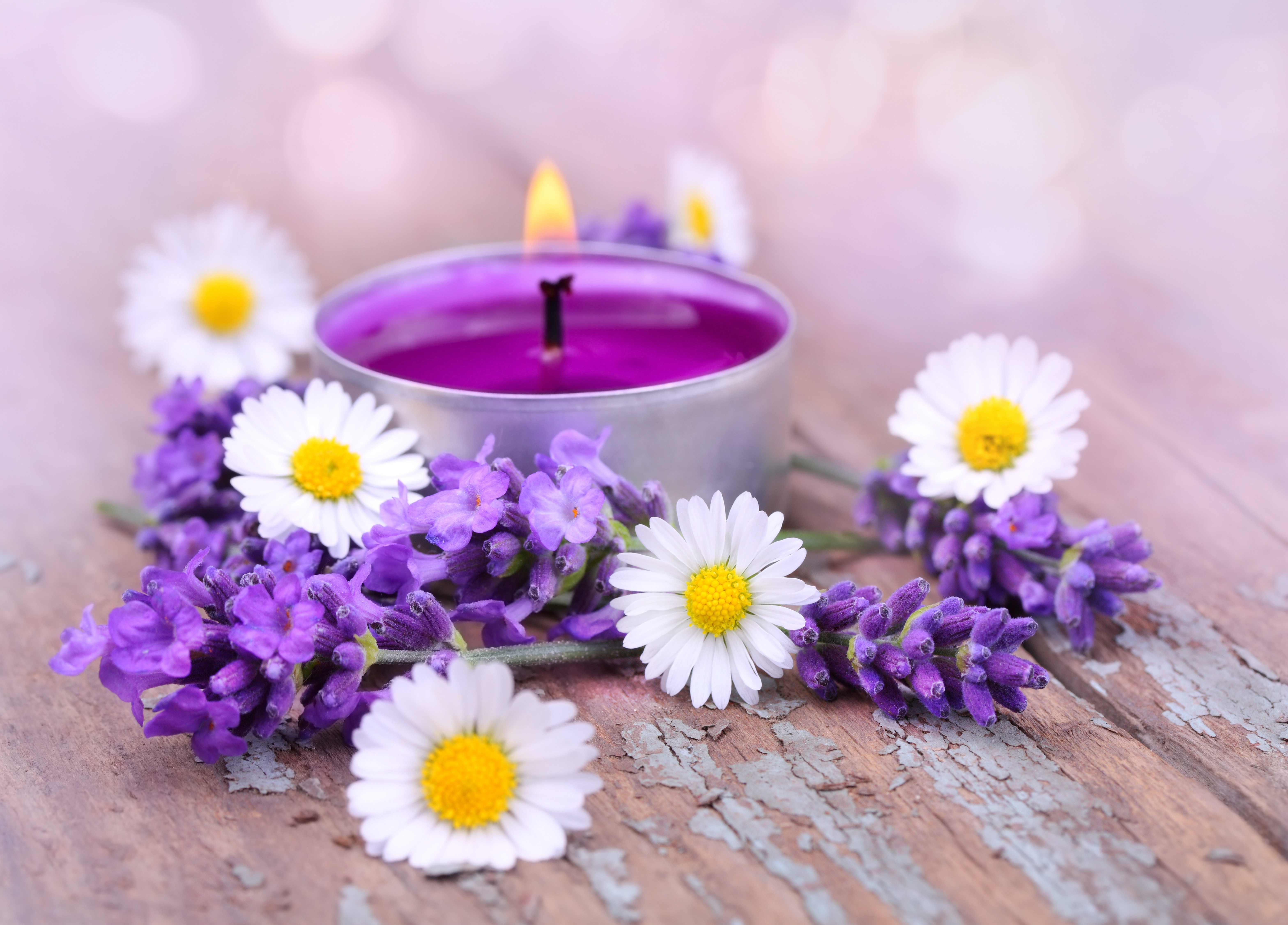 картинки свечи и цветы: