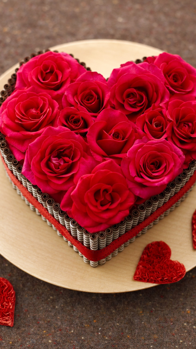 Открытки розы сердечком, поздравление летием девушке
