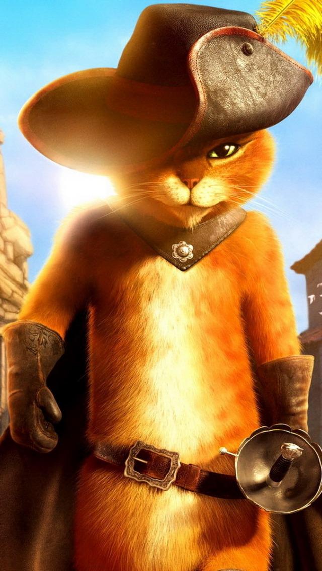 Картинка мультяшного кота в сапогах