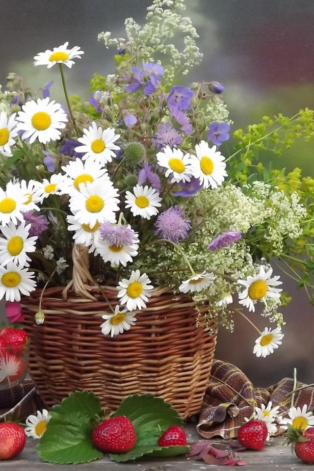 гиф корзина полевых цветов жившие районе чинечитта