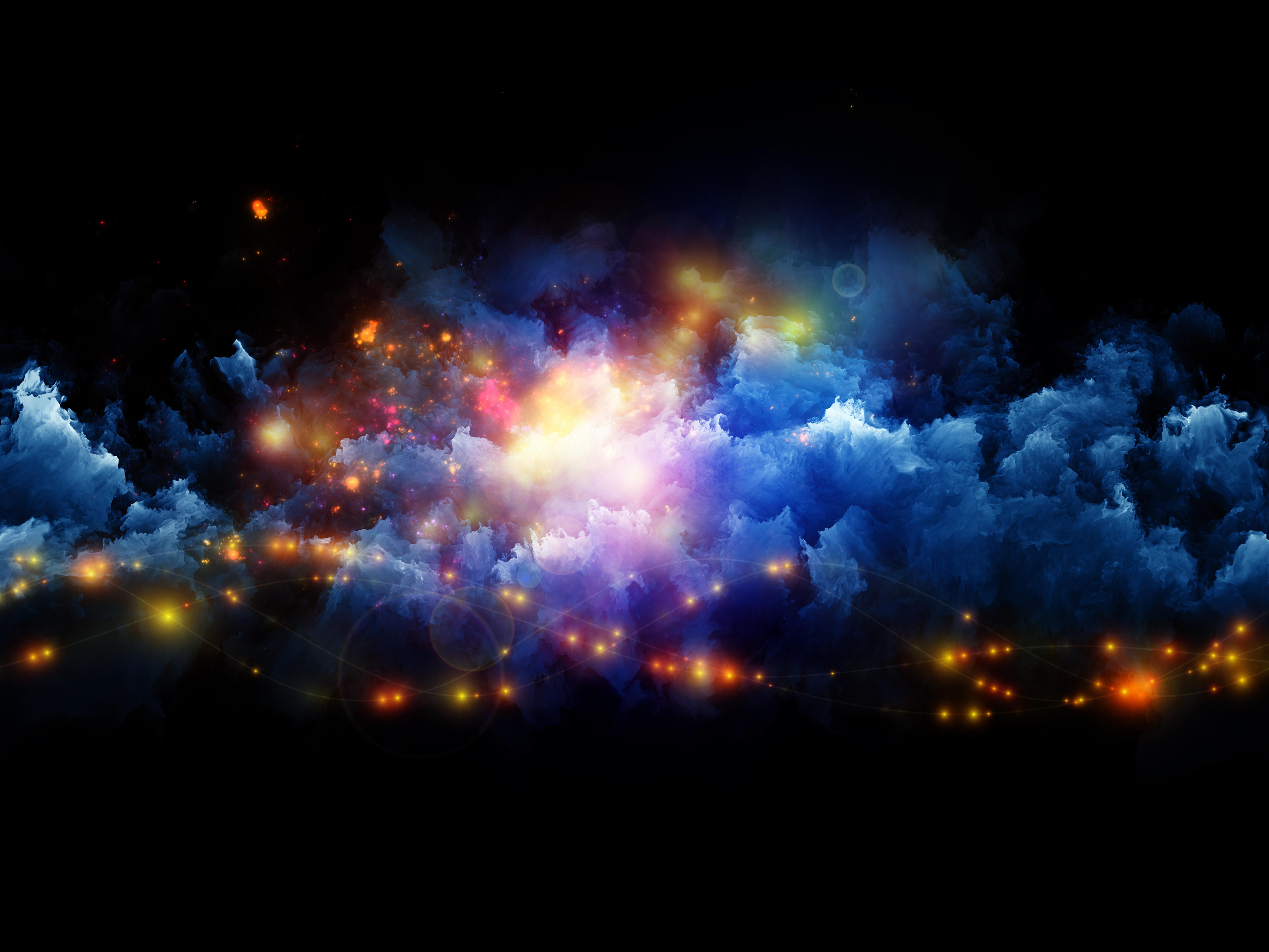 разноцветный эффект для фото космонавта выбирали