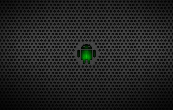 Картинка робот, логотип, logo, андроид, android, темные, google