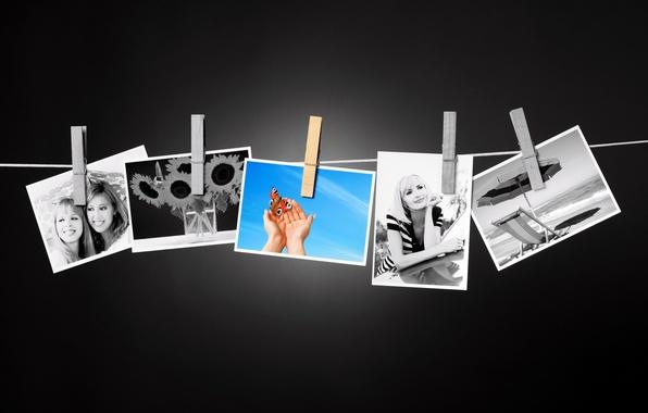 Картинка лето, воспоминания, фото, настроение, фотографии, summer, снимки, прищепки, цветное, черно, memories, среди, wallpaper., рhotos, белыых