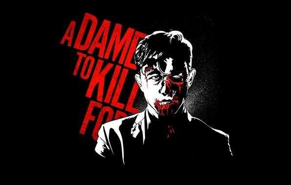 Картинка blood, Johnny, Joseph Gordon-Levitt, A Dame to Kill For, Sin City 2