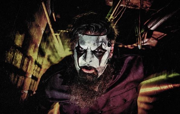 Картинка маска, гитарист, мужчина, борода, музыкант, Slipknot, Mask, Слипнот, James Root, Джеймс Рут