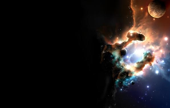 Картинка Звезды, Планета, Туманность