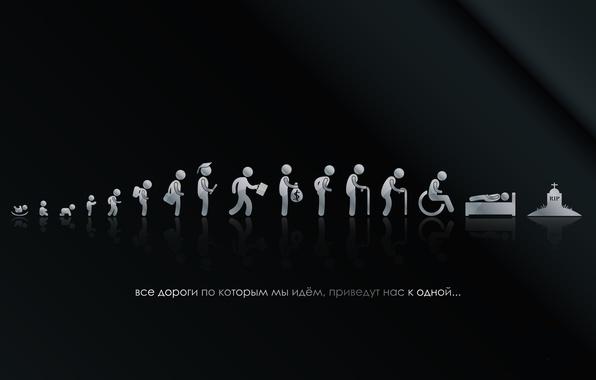 Картинка ФОН, ЧЁРНЫЙ, СМЕРТЬ, ТЕКСТ, ЖИЗНЬ, ФИГУРЫ, ЭТАПЫ, РОЖДЕНИЕ, МОГИЛА