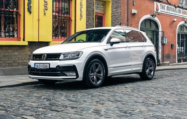 Картинка car, авто, Volkswagen, white, wallpapers, фольксваген, Tiguan, R-Line, тигуан