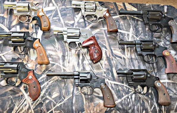 Картинка оружие, стволы, револьверы, многа