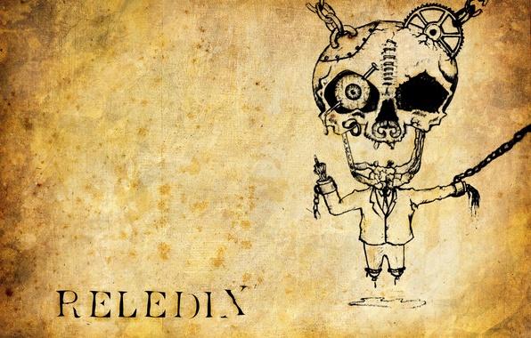 Картинка глаз, музыка, череп, фак, рисунки, metal, fuck, reledix, старая бумага