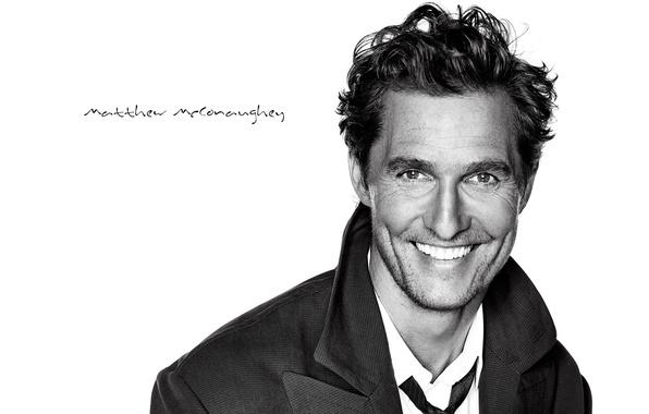 Картинка улыбка, фон, мужчина, актёр, Matthew McConaughey, Мэттью МакКонахи