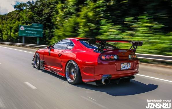 Картинка turbo, red, supra, japan, toyota, jdm, tuning, race