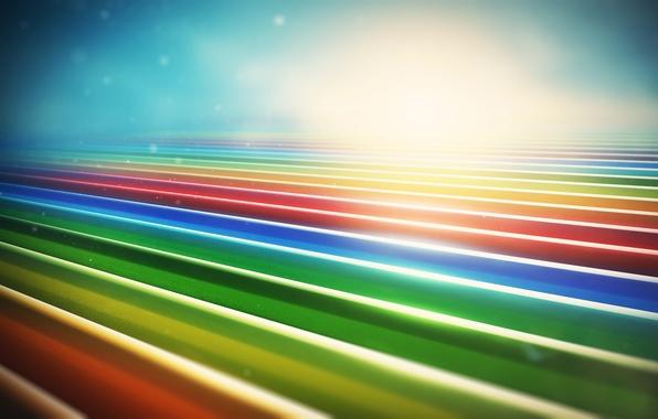 Картинка линии, разноцветные, lines, рендер, abstraction, lacza