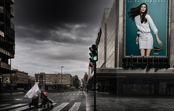 Картинка улица, светофор, переход, пешеходы, A happy world