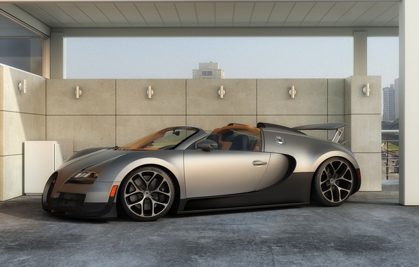 Картинка машина, графика, арт, Bugatti, Grand, Veyron, суперкар, Sport, Vitesse, dangeruss