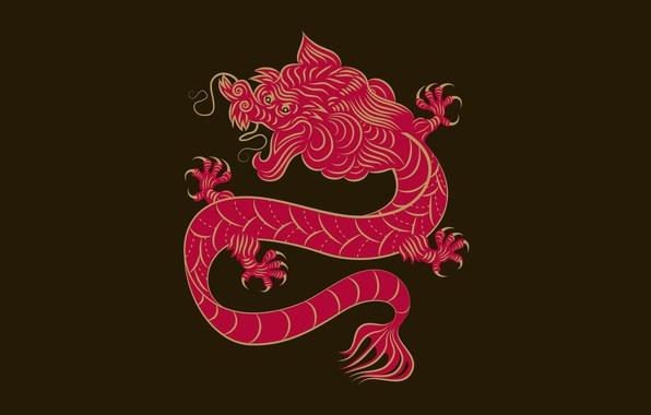 Картинка дракон, китай, орнамент