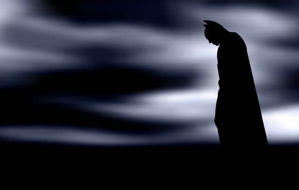 Картинка силуэт, Batman, супергерой, Arkham
