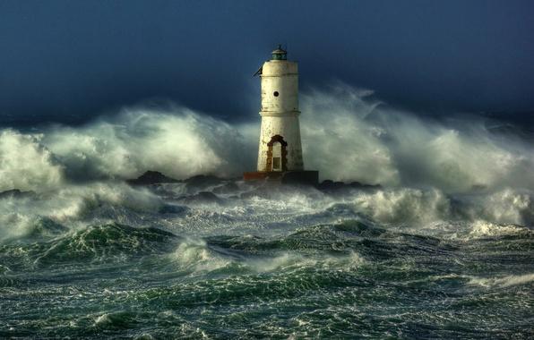 Обои картинки фото море волны шторм