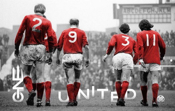 Manchester United George Best ONE UNITED Sir Bobby Charlton