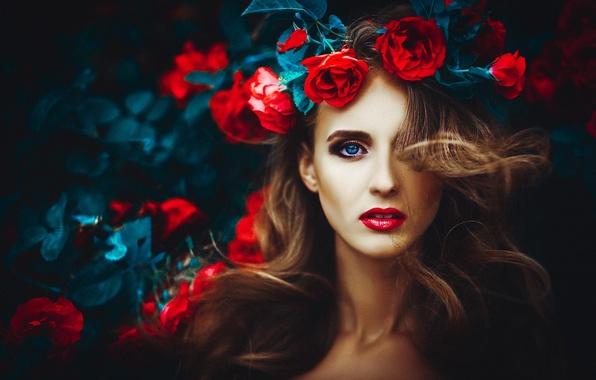 Картинка глаза, лицо, женщина, губы, girl, woman, beautiful, beauty