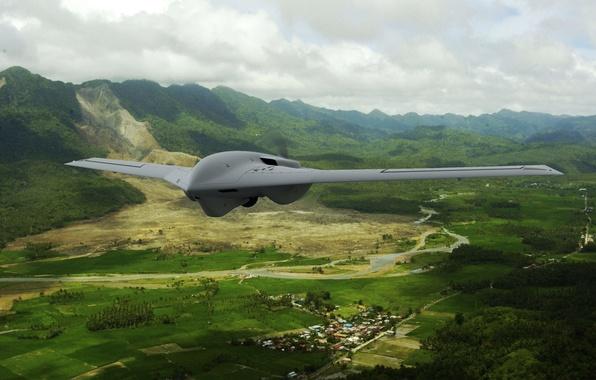 Картинка полет, беспилотник, Lockheed Martin, Fury Block 10