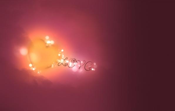 Картинка любовь, круги, абстракция, узоры, краски, сердце, colors, love, heart, circles, patterns, 1920x1200, боке, bokeh, abstraction