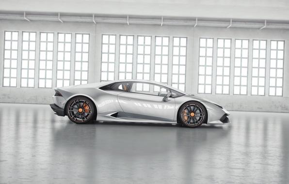 Картинка Lamborghini, Тюнинг, Суперкар, Wheelsandmore, Бок, Tuning, Supercar, Silver, Уракан, Huracan, Серебристый, LP850-4, Side Ламборджини, Lucifero