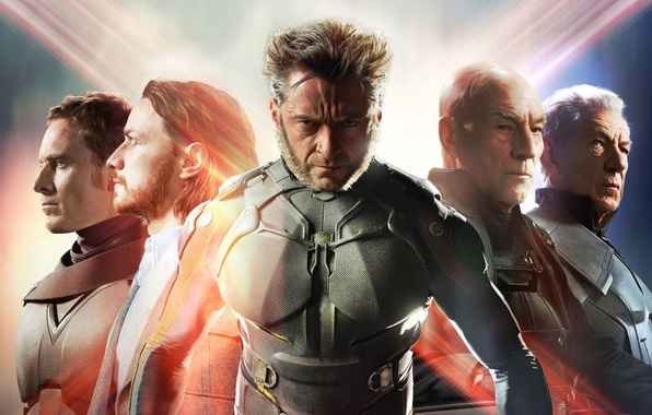 Картинка Action, Fantasy, Wolverine, Hugh Jackman, X-Men, Logan, Men, Wallpaper, Marvel, Eyes, James McAvoy, Magneto, Michael …