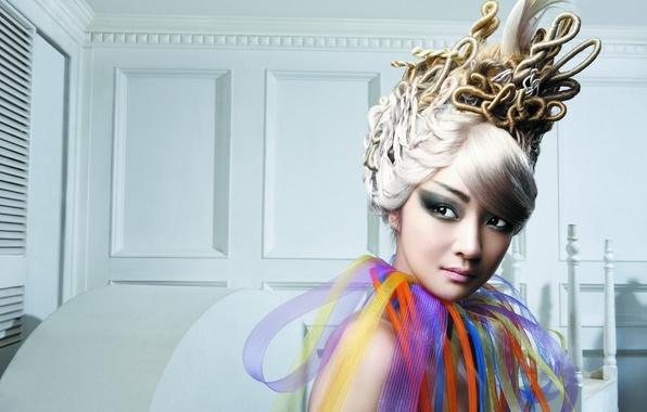 Картинка девушка, стиль, прическа, азиатка, мода