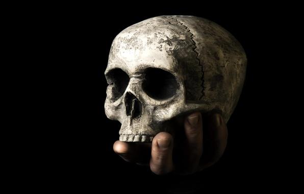 Картинка смерть, череп, рука