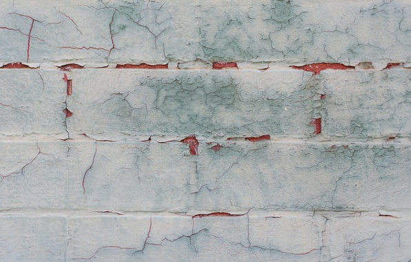 Картинка трещины, стена, краска, кирпичи