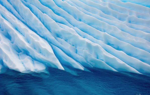 Обои картинки фото os x mavericks льды вода