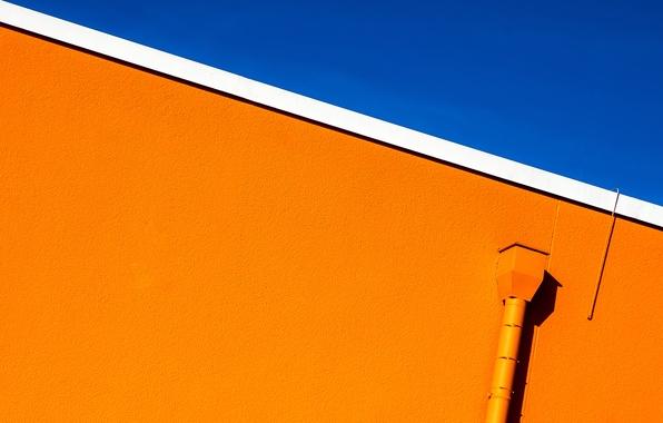 Картинка небо, стена, urban minimalism