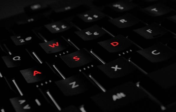 Картинка кнопки, клавиатура, WASD
