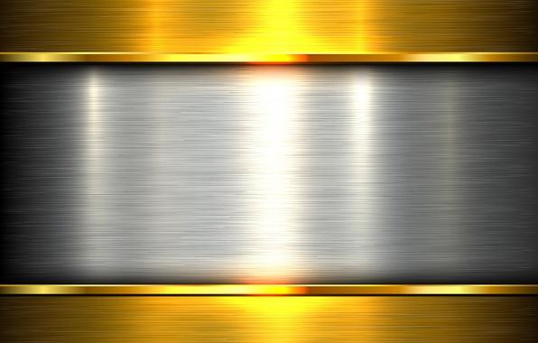 Картинка металл, золото, metal, plate, gold, steel