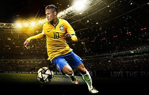 Картинка номер, форма, эмблема, причёска, Бразилия, Brasil, Neymar, PES16