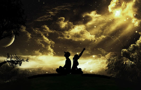 красивое фото девушки на фоне неба