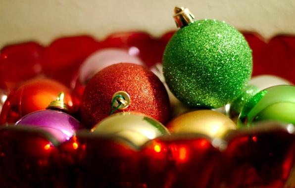 Картинка шары, игрушки, новый год, украшение