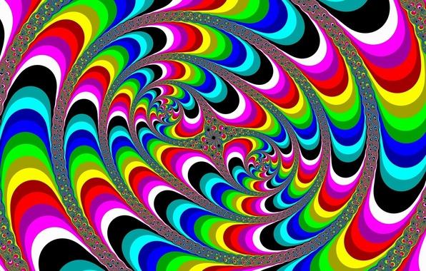 Фото абстракция иллюзия цвета линии