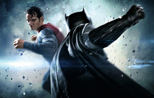 Картинка фантастика, бой, битва, Batman, Бен Аффлек, комикс, Superman, супергерои, Henry Cavill, Генри Кавилл, Ben Affleck, …