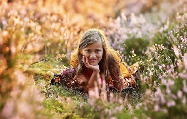 Картинка лето, взгляд, улыбка, портрет, девочка